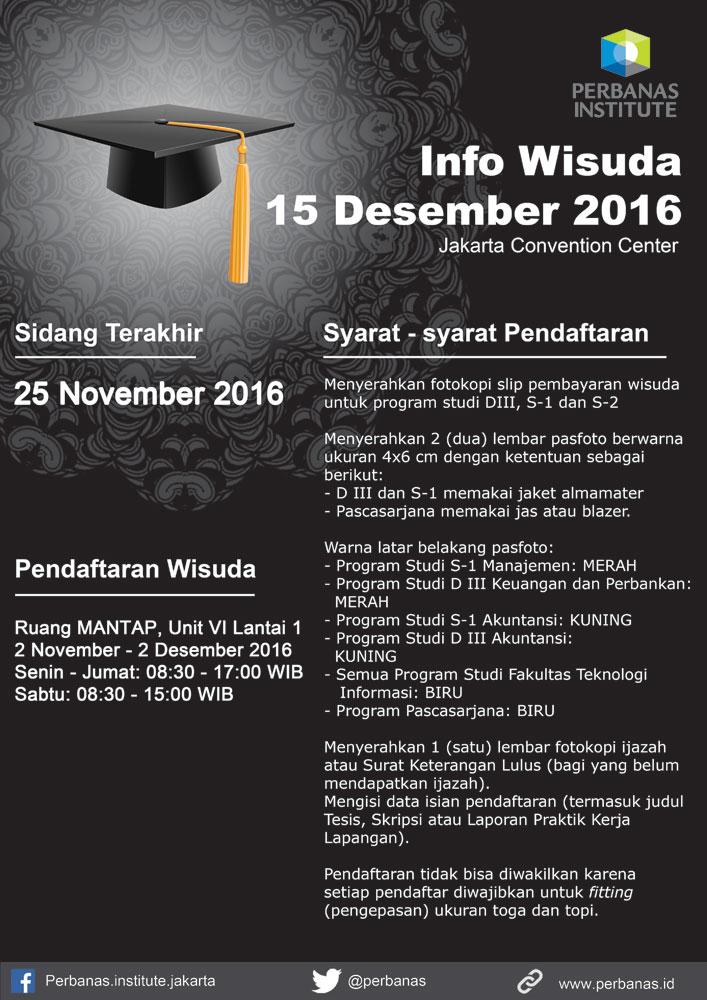 Info Wisuda 15 Desember 2016
