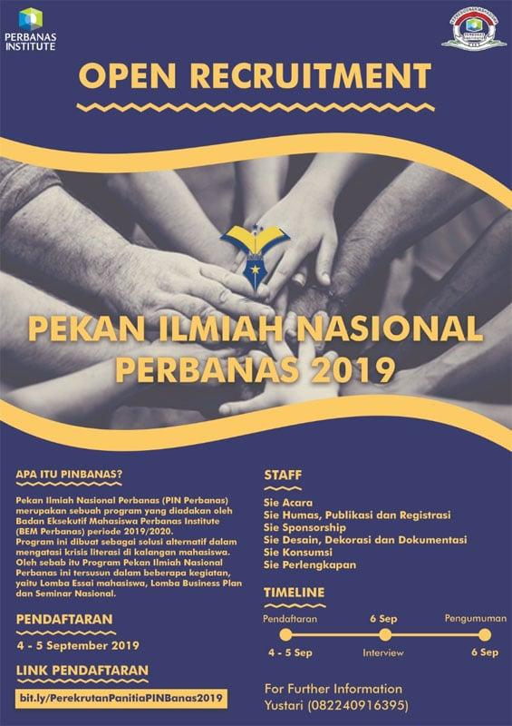 Pekan Ilmiah Nasional Perbanas 2019