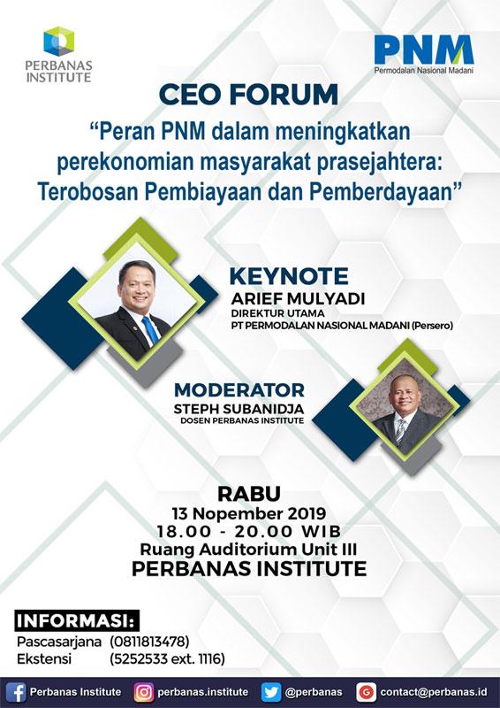CEO FORUM BERSAMA PT PNM