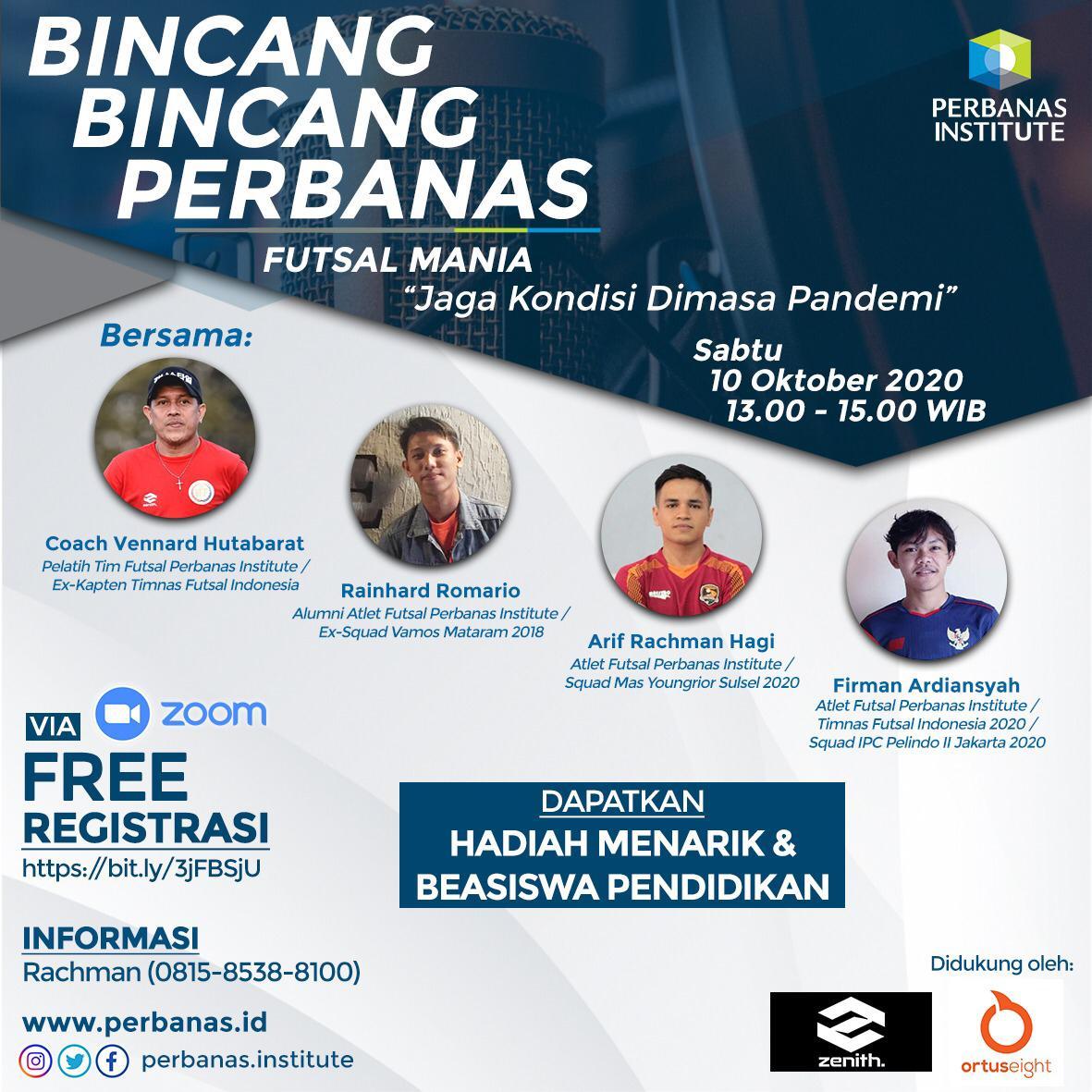 """Bincang-Bincang Perbanas Futsal Mania Dengan Topik """"Jaga Kondisi Dimasa Pandemi"""""""