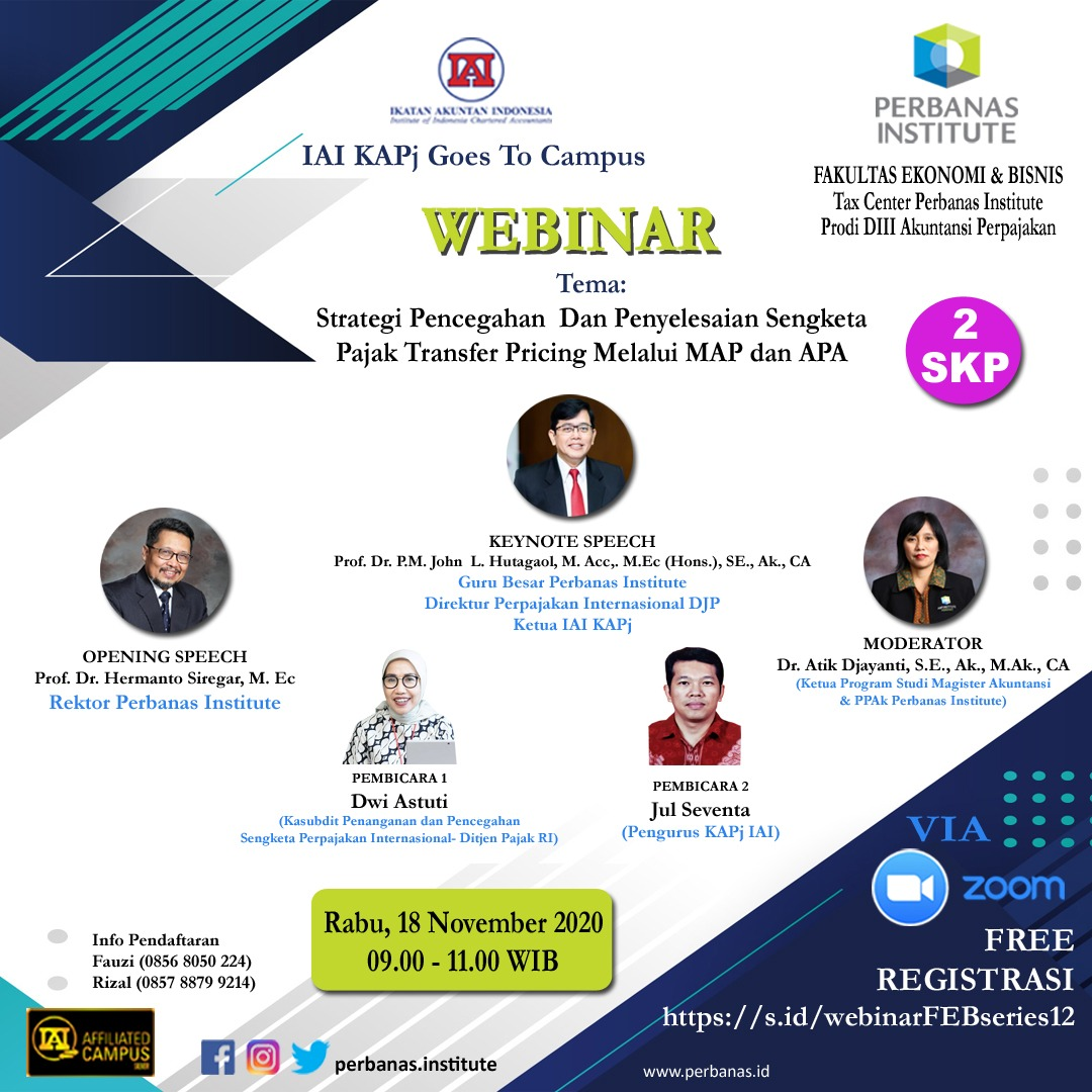 WEBINAR FEB PERBANAS INSTITUTE SERIES 12